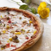 Pizza mozzarisella e verdure vegana